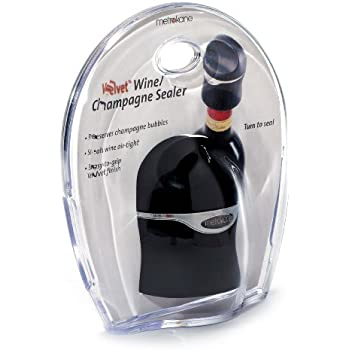 Metrokane Champagne and Wine Sealer (Velvet Black)