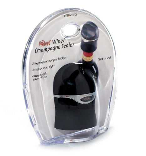 and Wine Sealer (Velvet Black) (Rabbit Bottle Stopper)