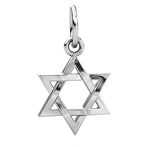 Authentic BELLA FASCINI Star of David Dangle Bead Charm - Sterling Silver - Fits European Brand Bracelets by BELLA FASCINI