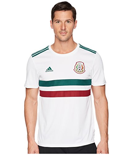 adidas Men's 2018 Mexico Away Replica Jersey White/Collegiate Green/Collegiate Burgundy XX-Large ()