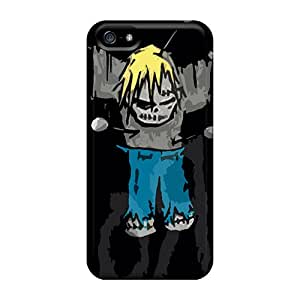 Shockproof Hard Phone Covers For Iphone 5/5s With Unique Design Beautiful Korn Skin MansourMurray