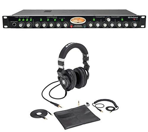 - Presonus Studio Channel Recording Vacuum Tube Mic Pre+Samson Lambskin Headphones