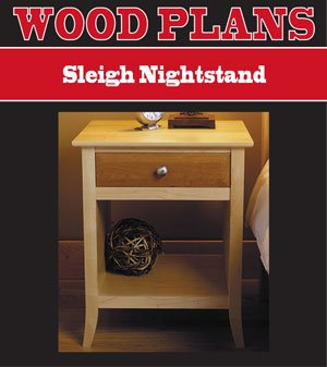 NIGHTSTAND WOODWORKING PAPER PLAN PW10067
