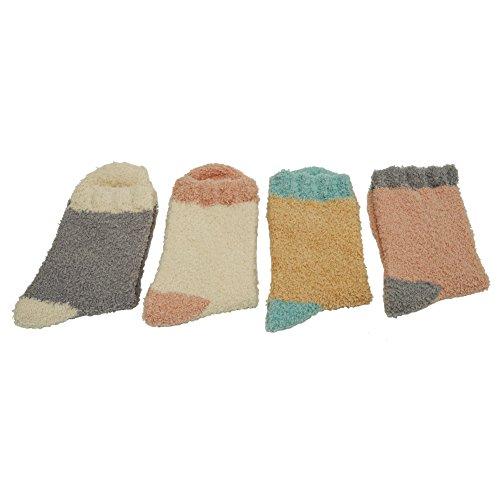Calzini Morbidi Sfilacciati Morbidi Pantofola Invernale In Microfibra Pantofola Calda Colore Assortiti