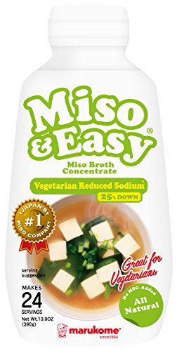 Marukome Miso and Easy Broth, Vegetarian Reduced Sodium, 13.8 Ounce