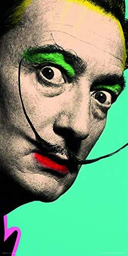 (Beyondthewall Archive Salvador DALI-POP Art AUTO Portrait Surrealist Art PAINTNG (12 x 24 UNFRAMED Print))