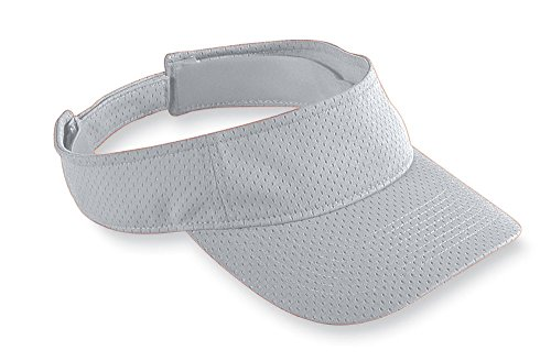 Augusta Sportswear Athletic Mesh Visor, One Size, Silver Grey -