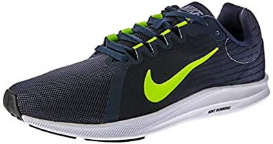 Nike Men's Downshifter 8 Shoes, Light Carbon, Volt-Obsidian-Black, 8 US
