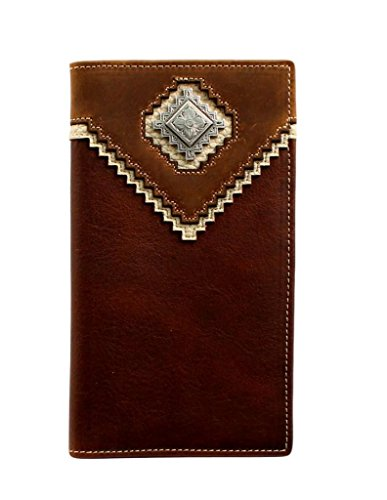 Nocona Wallet Nocona Shaped Men's Men's Diamond Concho Brown Diamond UrqUgnSH