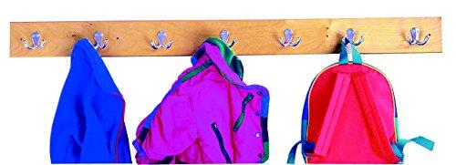 Bird in Hand 271615 Wall Mount Coat Strip, 7 Hook, Birch Veneer, 4-Coat UV Acrylic, 47-15/16