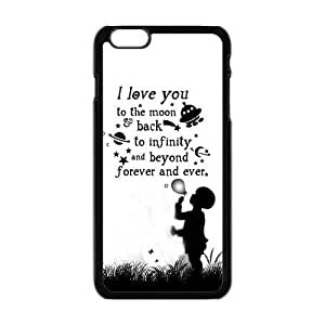 "Danny Store Hardshell Cell Phone Cover Case for New iPhone 6 Plus (5.5""), I Love You To The Moon And Back by runtopwell"