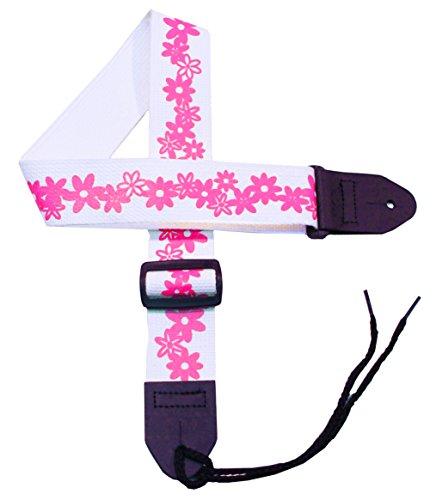 (Girls Flower Guitar Strap - 2
