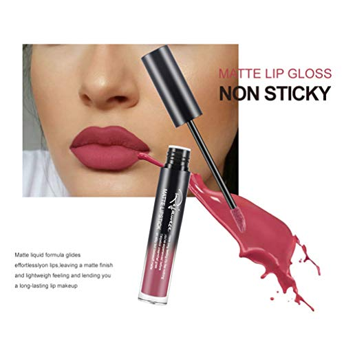 Lip Gloss by Rejawece - Waterproof Long Lasting Matte Lip Gloss Liquid Lipstick Beauty Makeup Cosmetics Lip Stick - Single Color 2#