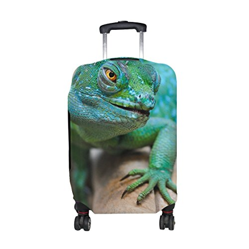 Lizard Reptile Green Muzzle Pattern Print Travel Luggage Protector Baggage Suitcase Cover Fits 18-21 Inch Luggage by TIANYUSS