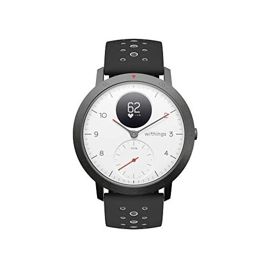 Withings Steel HR Sport – Multisport hybrid Smartwatch, connected GPS, heart rate, fitness level via VO2 max, activity…