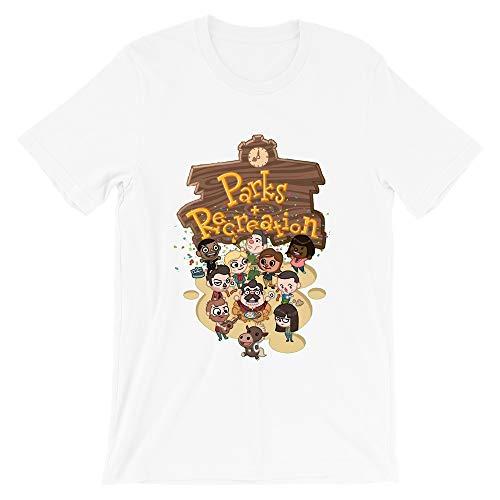 Parks and Rec Leslie Knope Andy Dwyer April Letgate Ben Wyatt Ron Swanson Vintage Gift Men Women Girls Unisex T-Shirt (White-L)