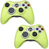 HDE XBOX 360 Controller Skin 2 Pack Protective Silicone Gamepad Case Covers Neon Candy Color - Yellow