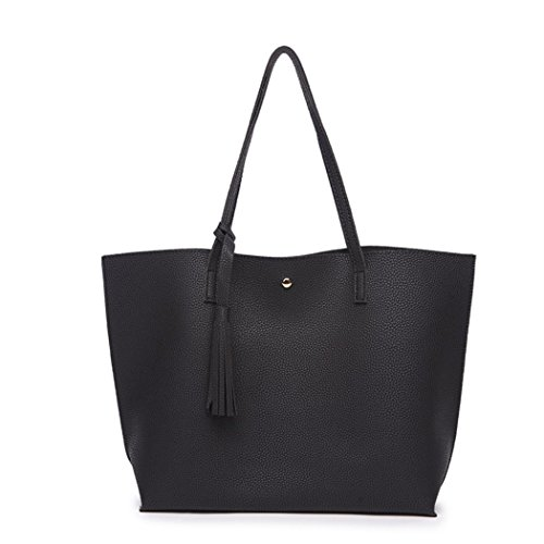 Nodykka-Women-Tote-Bags-Top-Handle-Satchel-Handbags-PU-Pebbled-Leather-Tassel-Shoulder-Purse