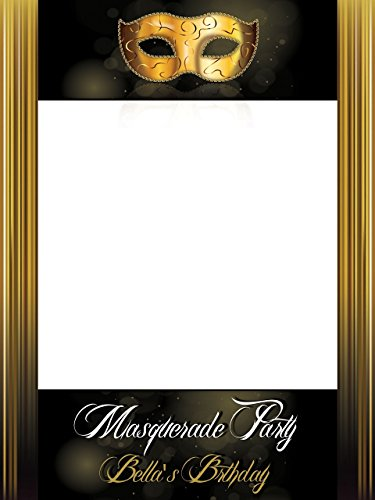 Large custom Masquerade Party Photo Booth, Masquerade Backdrop, Masquerade Ball, Masquerade Party, Custom Photo Booth, Mardi Gras- Size 36x24, 48x36 Handmade DIY Party Supply Photo Booth ()
