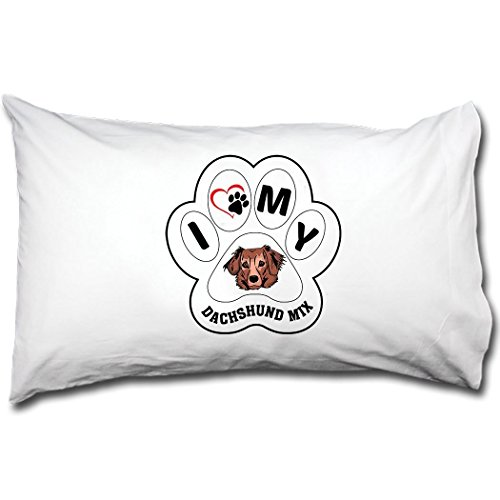 DACHSHUND MIX DOG I PAW MY Bed Single Pillow Case Renee for sale  Delivered anywhere in Canada