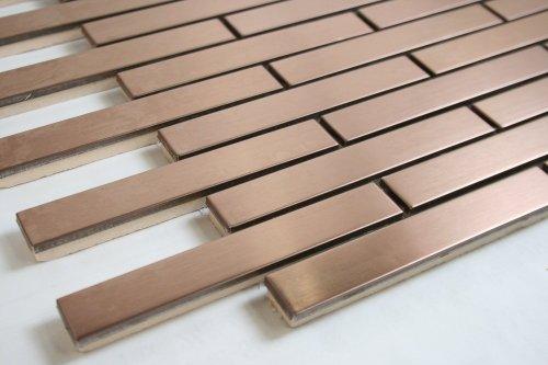 Stone Mosaic Sconce Light - Bronze Metal Brick Pattern (5/8