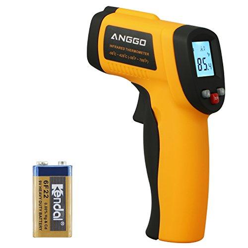 ANGGO Infrared Thermometer, Non-contact Digital Laser Temperature Gun -58℉~788℉(-50℃~420℃) for Cooking/Air/Refrigerator/Pet by ANGGO