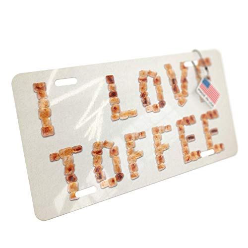 NEONBLOND I Love Toffee Brown Sugar Tea Aluminum License ()