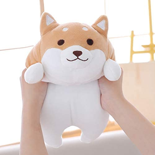 Natuurlijk Leuke Hond Fat Pluchen speelgoed Gevulde Soft Kawaii Animal cartoon kussen Mooie Gift For Kids intellectuele ontwikkeling