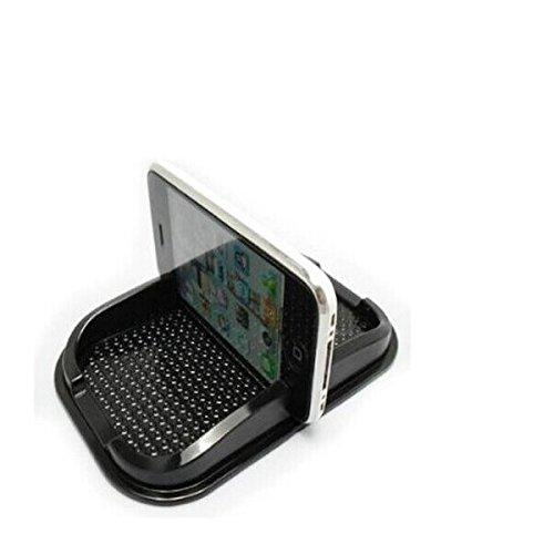 Autoadesiva in gomma supporto per il cruscotto / scrivania, ideale per Apple iPhone X, nero. Incl. Scomparto per occhiali, monete, chiavi ecc supporto cruscotto, supporto del telefono del supporto Sma