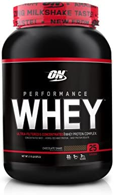 OPTIMUM NUTRITION Performance Whey Protein Powder, Whey Protein Concentrate, Whey Protein Isolate, Hydrolyzed Whey Protein Isolate, Flavor Chocolate Shake, 25 Servings