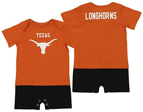 Outerstuff NCAA Infant (12M-24M) Fan Jersey Romper, Burnt Orange 18 Months