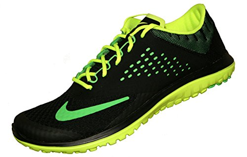 Nike FS LITE RUN 2 Zapatillas para Correr Running Negro Rojo para Hombre Black/Volt/Poison Green