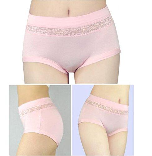 POKWAI 4 Paquete De Mujer Ropa Interior Ropa Interior En La Cintura Alta De La Cintura Del Algodón Modal Pantalones Súper Cómodo A10