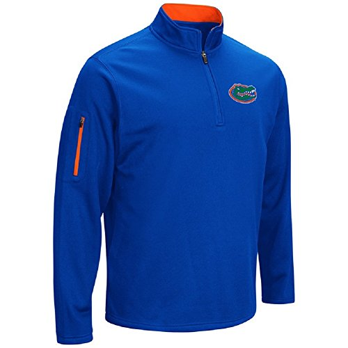 Colosseum Men's VF Poly Fleece 1/4 Zip Pullover-Florida Gators-Royal-XXL