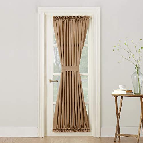 (Sun Zero Barrow Energy Efficient Door Panel Curtain with Tie Back, 54