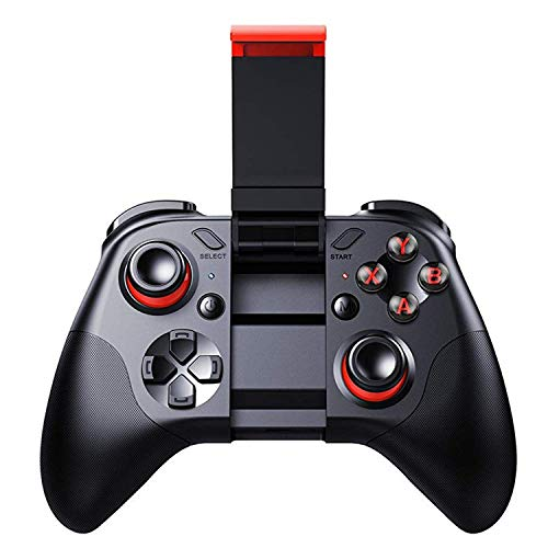 Bluetooth Wireless Video Game Controller – Gamepad Gaming Joystick With Holder Remote Control for Android, Mobile Smart Phone, OS, Samsung Gear VR, Tablet, PC, TV Box, Laptop, Steam Games
