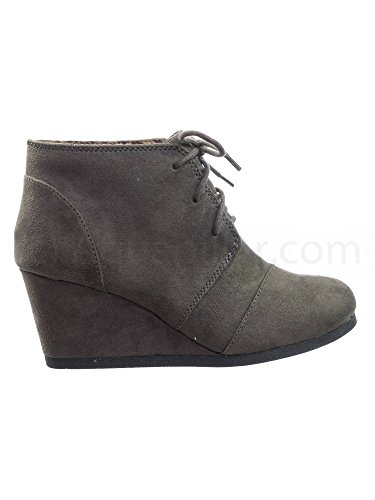 SODA Womens Rex Lace-Up Oxford Ankle Booties