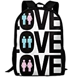 ZQBAAD LGBT Love Takes Many Forms Luxury Print Men and Women's Travel Knapsack