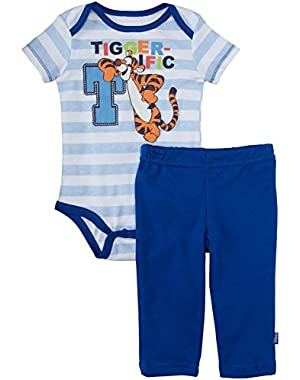 Disney Baby Boys' Tigger Creeper Pant Set (Baby) - Blue