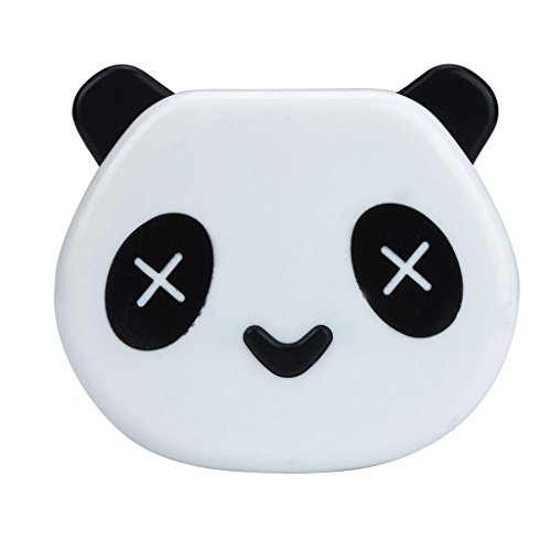 Usstore 1PC Contact Lens Box Cartoon Panda Candy Color Case Eyes Care Kit (White) (Aqua Contact Lenses)