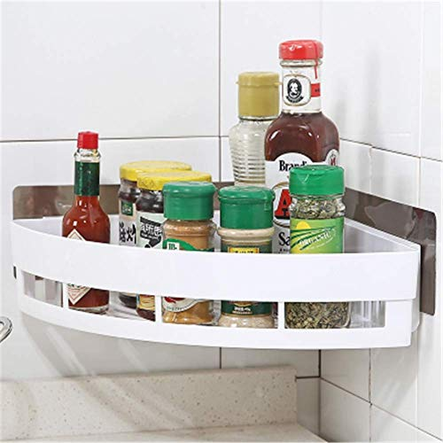 WYZXR Punch-Free Shower Caddy Corner Shelf, Wall Mount Storage Shelves Triangle Baskets, - Mirrors Bench Shower Bathroom Remodel And With
