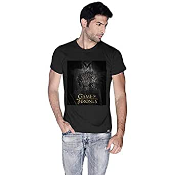 Creo Black Cotton Round Neck T-Shirt For Men