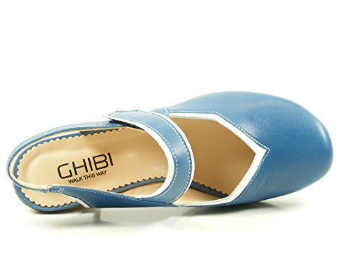 Ghibi A012 Damesschoenen Sling Hielensandals Blauw