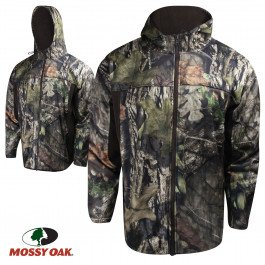 bd90bb400eb40 Image Unavailable. Image not available for. Color  Mossy Oak Performance  Fleece Full-Zip Hooded Jacket ...