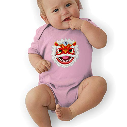 nordic runes Lion Dance Chinese Baby Onesies Toddler Baby Girl/Boy Unisex Clothes Romper Jumpsuit Bodysuit One -