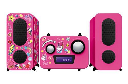 BigBen Interactive MCD11RSUNICORNSTICK HiFi-installatie met cd-speler, roze