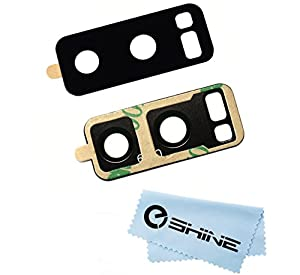 EShine Back Rear Camera Glass Lens Replacement + Adhesive Preinstalled for Samsung Galaxy Note 8 N950 (ALL CARRIERS) + Cloth