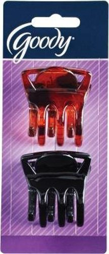 Goody WoMens Slide Proof Claw Clip, Square, Medium, 2 Count