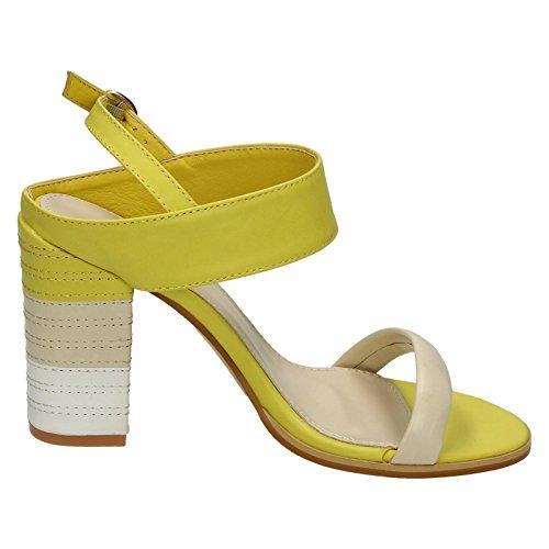 Spot On - Zapatos con correa de tobillo mujer amarillo y multicolor