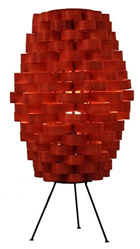 Eangee Tall Slat Retro Orange Bamboo Weave Table Lamp -  Eangee Home Design, Inc., NC102 RO